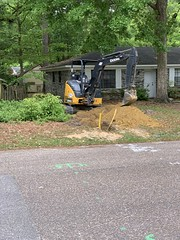 Replacing the natural gas line on our street (moccasinlanding) Tags: naturalgas gasline construction mobilealabama