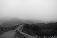 The Great Wall (tomaso.belloni) Tags: asia badaling china blackandwhite bricks exterior greatwall outdoor outdoors photography staircase clouds landscape sky wall