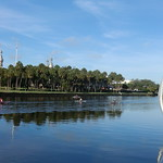 Florida - Tampa:  Rowing and canoeing on Hillsborough River. The group passes by UT (University of Tampa) and Tampa River Walk trail thumbnail