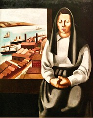 View of the Tagus from Santa Catarina (1935) - Paulo Ferreira [Paolo] (1911-1999)