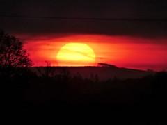 Today (Tobymeg) Tags: sunrise holywood scotland sun sky red gold