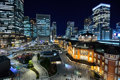 Tokyo Station, 東京車站 (Vincent_Ting) Tags: tokyo 東京 東京車站 tokyostation building nightscape kitte japan 古蹟