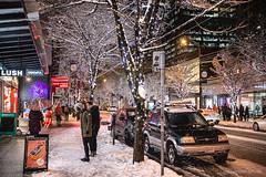 Double Take 🍆👀 Vancouver, BC (Michael Thornquist) Tags: snow snowcouver robsonstreet onrobson lush valentinesday eggplant bathbombs canadagoose parka sidewalk polarvortex snowmageddon city street neonsigns neon cafecrepe davidstea vancouverphotos vancouver britishcolumbia dailyhivevan vancitybuzz vancouverisawesome veryvancouver 604now photos604 canoncanada explorecanada ilovebc vancouverbc vancouvercanada vancity pacificnorthwest pnw metrovancouver gvrd canada 500px