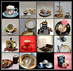 2019 Sydney collage: Coffee Cups #9 (dominotic) Tags: 2019 coffeeobsession food drink biscuits cupcakes choicolate confectionery coffeebeans chocolate jellybeans foodphotography yᑌᗰᗰy coffeecupcollage coffeecups coffeemugs illycoffeecups coffeeandcupsaucer depechemodecoffeemug sydney australia