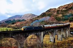 47614 @ Glenfinnan (A J transport) Tags: class47 locomotive 47614 diesel railway railtour scotland glenfinnan trains westhighlandline charter brushtype4 sulzer br