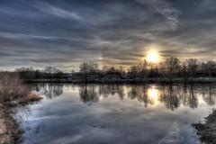 IMG_0389_90_91_Weser (HDRforEver) Tags: hdr photomatix sunset river water new interesting outdoor sky reflexions reflektionen canon eosm50 m50 karstenhöltkemeier january