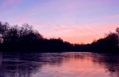 Painted Lake (nrg_crisis) Tags: sunrise dawn morning trees sky lake frozen reflections nikond5600