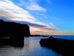 Coastal (gcobb84) Tags: night water sea cliffs clouds rocks waves