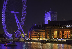 London at night (Pawel Wietecha) Tags: london england river theme londoneye blue red orange sky night evening uk reflaction travel trip journey color colors architecture cityscape nightscape landscape lights town buildings dark urbanscape view