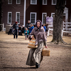 Carrying a Few Things (lclower19) Tags: osv woman carrying odt sturbridge massachusetts square people