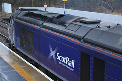 68006, Inverkeithing, March 1st 2016 (Southsea_Matt) Tags: 68006 class68 drs directrailservices vossloh eurolight scotrail abellio inverkeithing fife scotland unitedkingdom diesellocomotive train railway railroad engine station passengertravel publictransport vehicle