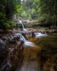 Liffey Falls, Tasmania (christaff1010) Tags: liffeyfalls trees summer d750 landscape waterfall green mist water australia rainforest sunlight tasmania longexposure hills rocks au
