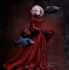 Purpose ❣️ (pure_embers) Tags: pure embers bjd sd 13 doll dolls normal skin ns uk supia rosy electra girl supiadoll pureembers emberselectra photography photo ball joint resin angeltoast faceup portrait pink hair ayuana red victorian dress dark gothic steampunk fish