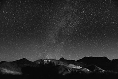 Big Bend Ranch stars black and white