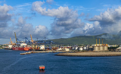 Port Louis / Порт Луи (dmilokt) Tags: пейзаж landscape гора лес небо облако mountain forest sky cloud море океан sea ocean dmilokt порт port корабль ship