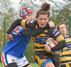 Strong Carry (Feversham Media) Tags: yorkcityknightsladiesrlfc wakefieldtrinityladiesrlfc womenssuperleague rugbyleague york womensrugbyleague yorkstjohnuniversity