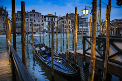 Venice, Italy, 2017 (Photox0906) Tags: europe italie veneto venise venezia venedig venice italy grandcanal night world heritage unesco pillar gondola light palace building facade water
