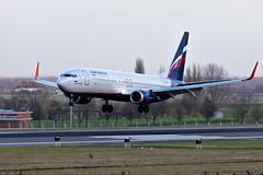 VP-BNP, Boeing 737-8MC of Aeroflot. (David James Clelford Photography) Tags: vpbnp boeing7378mc aeroflot brusselsnationalairport bru ebbr 25l aircraft airplane airliner airport aeroplane jet jetliner aviation civilaviation 737 737800 boeing b737
