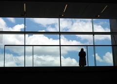 GOMA silhouette (adamsgc1) Tags: goma galleryofmodernart brisbane southbank silhouette anita clouds bigwindow art