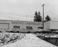 Tekoa, Washington (austin granger) Tags: tekoa washington palouse cars snow winter carlot dealership vintage evidence dorseychevrolet time film largeformat chamonix