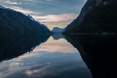 Norwegian nature (steffos1986) Tags: nature landscape landschaft view scenery scenic sunset sundown twilight valley snow mountain water lake fjord nikond5500 nikon norway norge norwegen europe scandinavia outdoor outside sun beautiful explore hike path trail