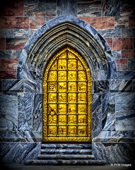 Behind the Golden Door (pandt) Tags: gold golden door marble entrance boktower garden gardens lakewales florida botanical outdoor architecture canon eos slr 6d flickr stairs landmark arch