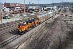 BNSF 7004 West at Argentine Yard in Kansas City, KS (sd39u1556) Tags: train argentine bnsf automotive yard locomotive power kansas city