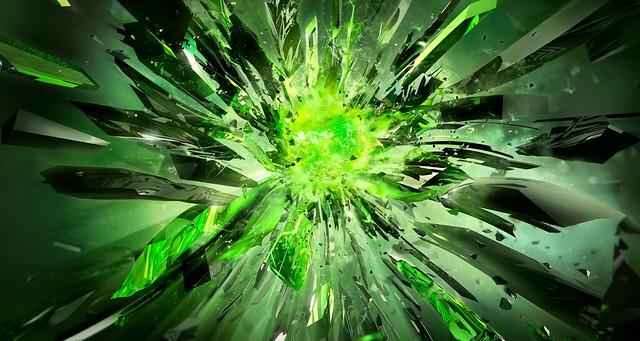 Обои кристаллы, осколки, взрыв, свет картинки на рабочий стол, фото скачать бесплатно