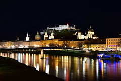 SALZBURG (Rostam Novák) Tags: city austria salzburg östereich danube salzach river castle church churches urban architecture night evening rostamnovak light