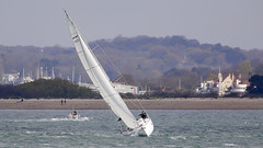 Yacht (Bernie Condon) Tags: calshot sea hants solent southamptonwater water yacht sail sailing yachting boat sport watersport wind