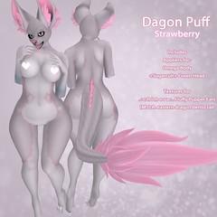 .::Foxxies::. Dagon Puff - Strawberry (Foxxies) Tags: foxxies dagon puff strawberry pink cute kawaii furry omega maitreya slink belleza second life