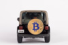 Black SUV car carrying Bitcoin on the back of the car (wuestenigel) Tags: carrying crypto wrangler back car btc black bitcoin drive suv jeep tire auto vehicle fahrzeug noperson keineperson transportationsystem transportsystem