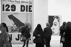 Warhol-1 (albyn.davis) Tags: warhol exhibit blackandwhite people contrast nyc newyorkcity whitney museum art exhibition