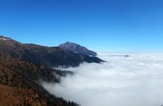 Riding above Clouds {EXPLORED} (rajnishjaiswal) Tags: lachen lachung sikkim bikeride cloud ridingaboveclouds mountain offroading nature beautifulnature bluesky