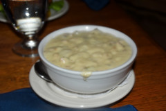New England clam chowder, Chena Hot Springs Resort Restaurant, Alaska (R-Gasman) Tags: travel food newenglandclamchowderchenahotspringsresortrestaurant alaska usa