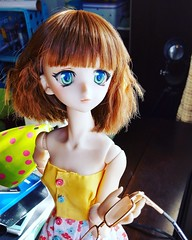 Suzume with new faceup (TurtleJenJen) Tags: volks dollfie dream dollfiedream ddh03 bjd balljointeddoll obitsu obitsu50 doll