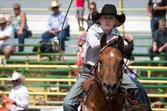 Strathmore Stampede 2018 (tallhuskymike) Tags: strathmore stampede event rodeo strathmorestampede cowgirl horse outdoors prorodeo 2018 barrelracing