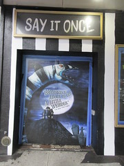 Beetlejuice The Musical Winter Garden Theater Marquee 4381 (Brechtbug) Tags: beetlejuice the musical winter garden theater marquee display 2019 nyc broadway 7th ave 51st street ben cooper halco collegeville monster creature graveyard ghoul dead guy moss hair green stripes fashion mutants villains tim burton film movie 1988 80s 1980s figure hell purgatory beatle beetle juice ghost with most michael keaton possession exorcist betelgeuse exorcism haunt