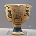 Black Figure krateriskos depicting girls racing or dancing during the Arkteia, 4
