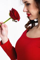 девушка с розой (julia.doroshkevich) Tags: красный девушка роза цветы прекрастная красота студия фотосессия