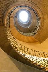 Spiral up (bjoernahrensfotografie) Tags: munich münchen architektur architecture stairs staircase treppe treppenhaus spiral lookup canon canoneosr
