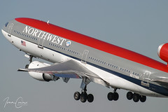 McDonnell Douglas DC-10-30 – Northwest Airlines – N237NW – Amsterdam-Schiphol (AMS EHAM) – 2003 03 23 – Takeoff RWY 24 – 01 – Copyright © 2003 Ivan Coninx (Ivan Coninx Photography) Tags: ivanconinx ivanconinxphotography photography aviationphotography ams eham schiphol kaagbaan douglas mcdonnelldouglas mcdonnell dc10 mcdonnelldouglasdc10 dc1030 northwest northwestairlines n237nw aviation trijet trijets triholer takeoff