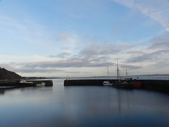Blue Hour, Avoch Harbour, Black Isle, Dec 2018 (allanmaciver) Tags: blue hour avoch harbour stone pier water calm dusk boats enjoy walk black isle scotland highlands entrance allanmaciver