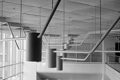 Place du Portage IV ceiling (Howard Sandler (film photos)) Tags: placeduportage blackandwhite film voigtlander vitomatic skopar acros