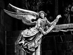Gloria... (Ody on the mount) Tags: anlässe em5ii engel freiburg kirchen mzuiko4518 münster omd olympus skulpturen urlaub weihnachten weihnachtskrippe angel bw christmas monochrome sw xmas freiburgimbreisgau badenwürttemberg deutschland de
