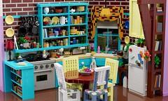 Friends — Monica's kitchen (aukbricks) Tags: lego moc legomoc afol afolsweden design friends friendstvshow vänner monicaskitchen kitchen interior legodigitaldesigner ldd mecabricks blender render rendering computerrendering
