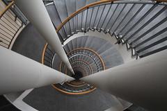 (Elbmaedchen) Tags: staircase stairwell stairs stufen steps treppenhaus treppenauge treppe upanddownstairs interior raufundrunter roundandround dresden escaliers escaleras