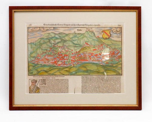 15th Century German Hand Colored Wood Cut ($291.20)