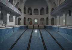 Public Bath (Some Place Only We Know) Tags: volksbad bath pool blue abandoned lost beauty beautiful old alt silence stille