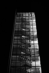 Windowed staircase (tomi-) Tags: blackandwhite bw bnw monochrome urban contrast finland fujifilm fuji night xt2 stairs staircase tower acros